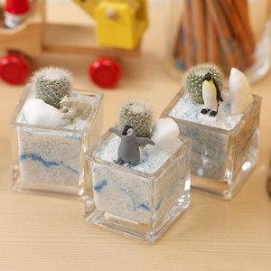 ちいさな植物と一緒に楽しむジオラマ「南極のペンギンたち」ミニサイズ3個セットの商品画像
