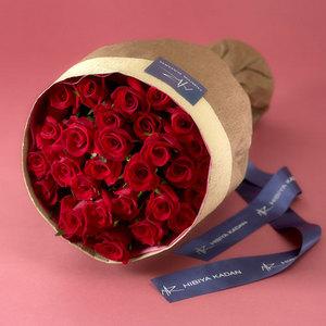 30本の赤バラの花束「アニバーサリーローズ」の商品画像