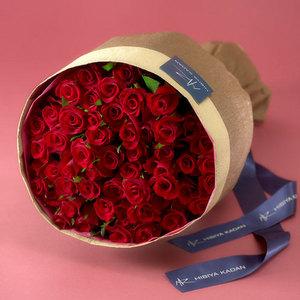 50本の赤バラの花束「アニバーサリーローズ」の商品画像