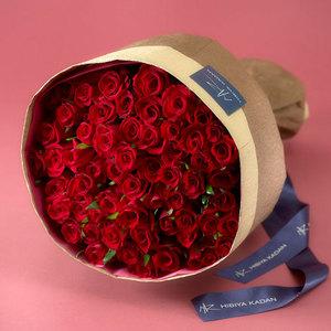 60本の赤バラの花束「アニバーサリーローズ」の商品画像