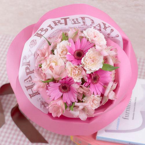 バラの形の花束ペタロ・ローザ「ハッピーバースデー」