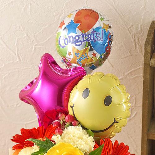 そのまま飾れるブーケ「Congrats!(おめでとう!)バルーン」