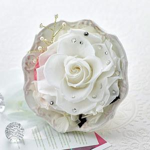 プリザーブドアレンジメント ジュエルローズ「ダイヤモンド」の商品画像