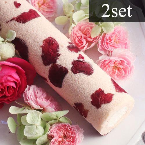 お花のスイーツ「花咲くローズロール」2箱