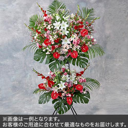 2段スタンド花Lサイズ(レッド・ピンク系)