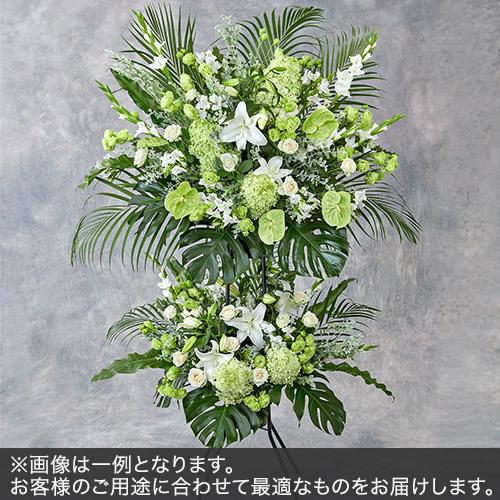 2段スタンド花Lサイズ(グリーン・ホワイト系)