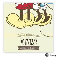 ディズニー ウェルカムボード「ふたり寄りそって」(ミッキー&ミニー)