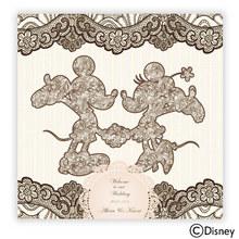 ディズニー ウェルカムボード「お花とレースに包まれて」(ミッキー&ミニー)