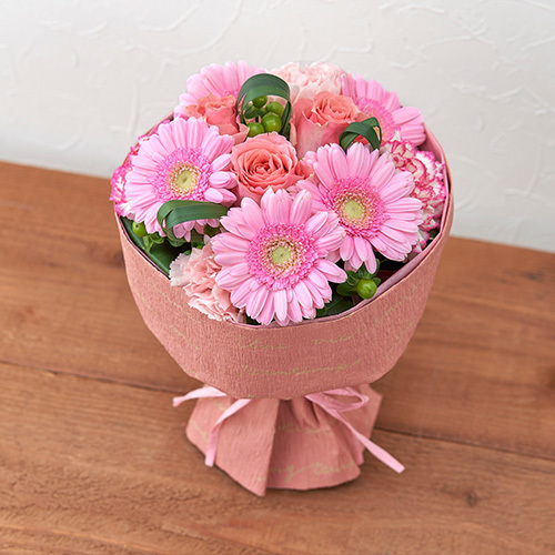 そのまま飾れるブーケ「グランデ・ピンク」