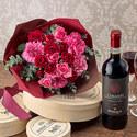 赤ワインとバラの花束「ローズルージュ」