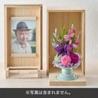 【お供え用】プリザーブドフラワー「華夢」と写真が飾れる桐箱のセット