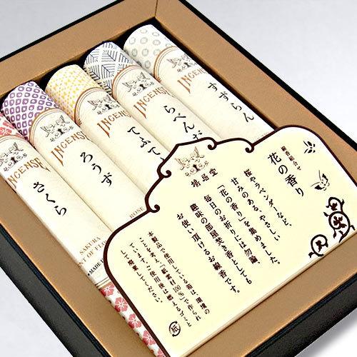 【お供え用】鳩居堂 線香「組合せ 花の香り(5種)」