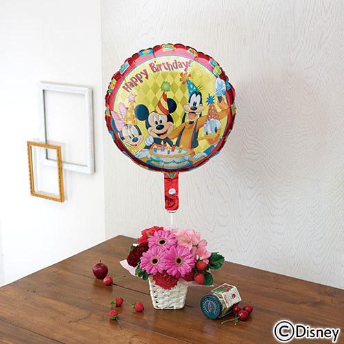 ディズニー バルーン&アレンジメント「ミッキー&フレンズ ハッピーバースデー」