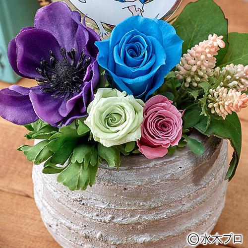 プリザーブド&アーティフィシャルアレンジメント ゲゲゲのお花「ひらひら一反木綿と鬼太郎」