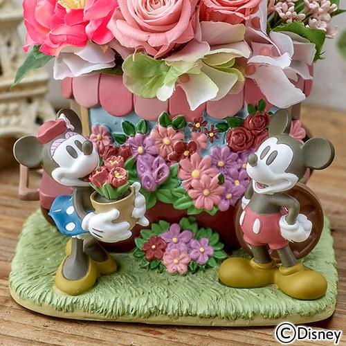 ディズニー プリザーブド&アーティフィシャルアレンジメント「ミッキー&ミニー フラワーワゴン」