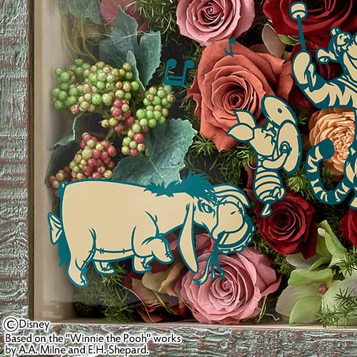 ディズニー フラワーフレームアート「くまのプーさん 100エーカーバンド」