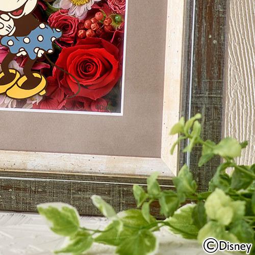 ディズニー フラワーフレームアート 「ミッキー&ミニー my true LOVE」