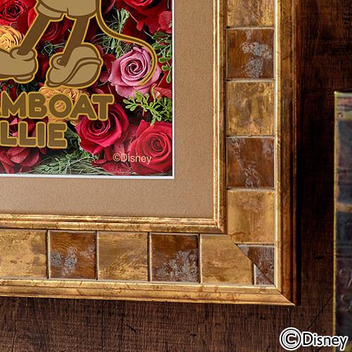 ディズニー フラワーフレームアート「蒸気船ウィリー」