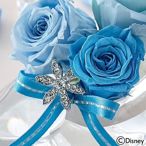 ディズニー プリザーブドアレンジメント「シンデレラの靴(ブリリアントブルー)」