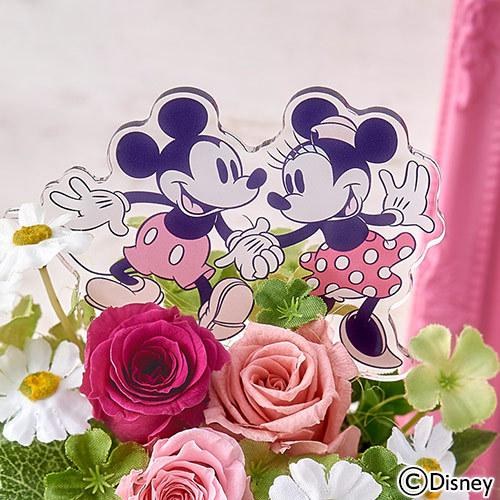 ディズニー プリザーブド&アーティフィシャルアレンジメント「ミッキー&ミニー スイートベリー」