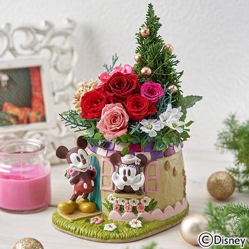 ディズニー プリザーブド&アーティフィシャルアレンジメント「ミッキー&ミニー フェット・ドゥ・ノエル」