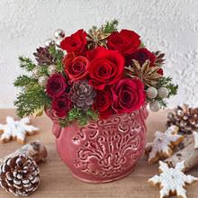 クリスマス プリザーブド&アーティフィシャルアレンジメント「ナターレフィオーレ」