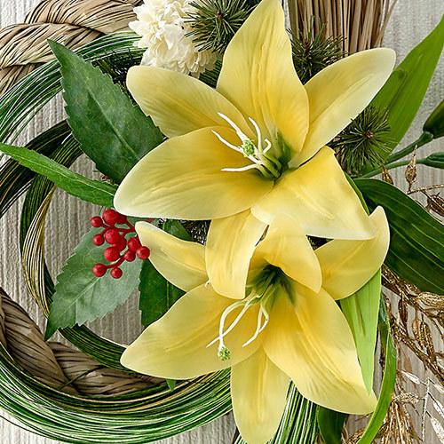 お正月 しめ飾り「百合の宴」