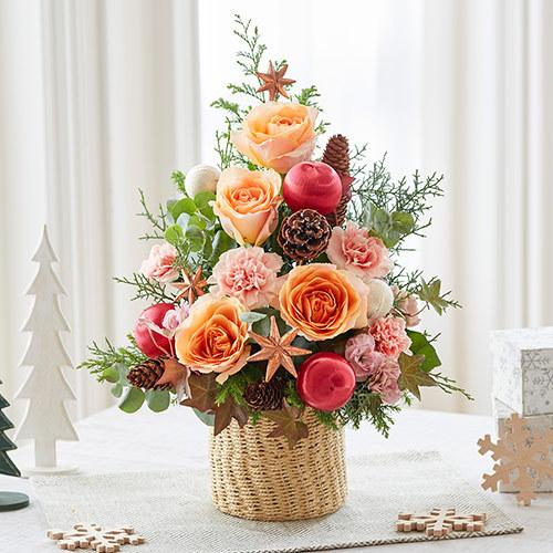 クリスマス アレンジメント「ローズロマンセ」