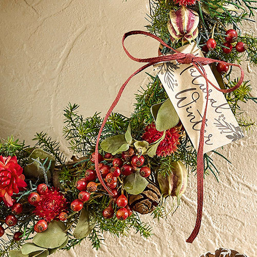 クリスマス ドライリース「リース ド ルージュ」