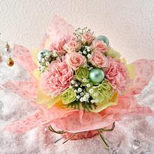 クリスマス そのまま飾れるブーケ「パステルノエル」