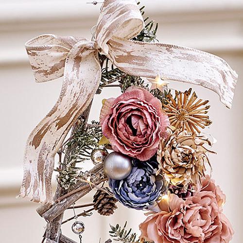 クリスマス アーティフィシャルスワッグとツリーのセット「オンブラージュ」