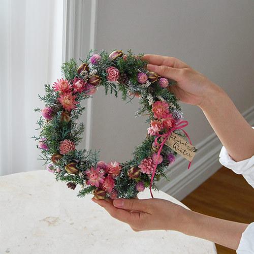 クリスマス ドライリース「リース ド ロゼ」