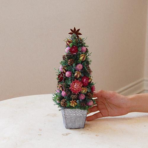クリスマス ドライリースとツリーのセット「ノエル ド ロゼ」
