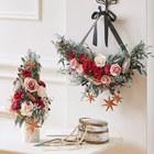 クリスマス プリザーブドリースとツリーのセット「ジョワユーノエル」