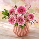 気持ちを伝える花束とフラワーベースのセット