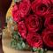 12月に贈る花言葉 花束「品種指定バラ『アマダ』12本(ダズンローズ)」