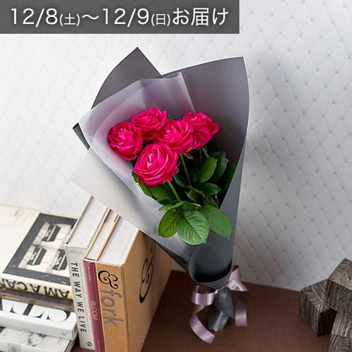 【12/8-9お届け】バイヤーズセレクト「クニエダさんのバラ」ダークピンク系