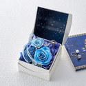 プリザーブド&アーティフィシャルアレンジメント「オルゴールフラワー(星に願いを)ブルー」