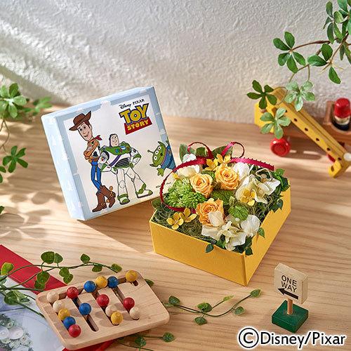 ディズニー プリザーブド&アーティフィシャルアレンジメント「オルゴールフラワー(TOY STORY)」