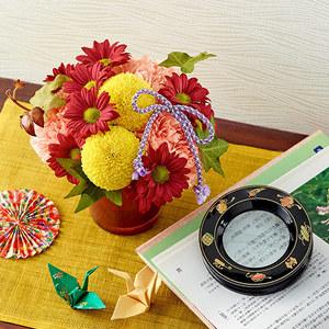 日比谷花壇 敬老の日 お花とルーペのセット