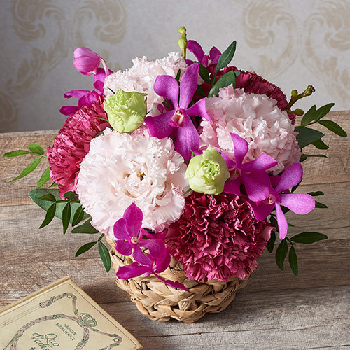 アレンジメント「8月の旬の花 ラフィット」