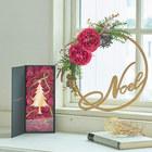 クリスマス アーティフィシャルリースとツリーのセット「ノエル ド ロゼ」