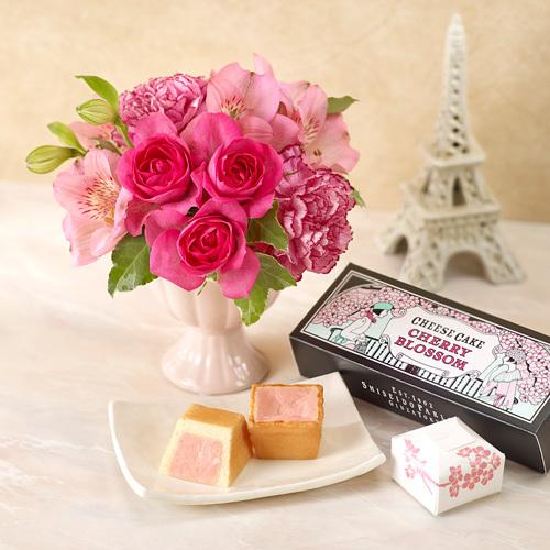 資生堂パーラー「春のチーズケーキ(さくら味)のセット」